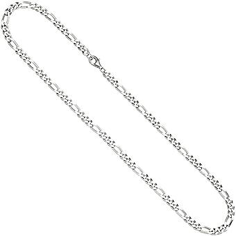 Figaro chain 925 Silver diamond 50 cm chain necklace silver chain carabiner