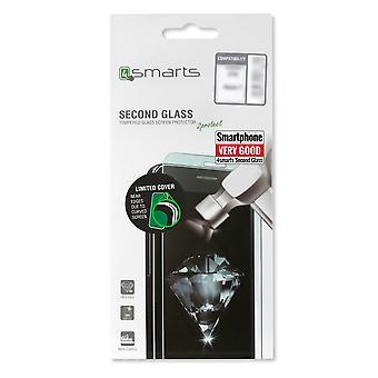 Second Glass Limited Cover für Nokia 6 Hartglas 9H 0,3mm Schutz Schock Folie