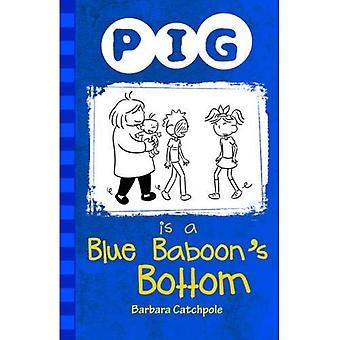 Pig est bas d'un babouin bleu