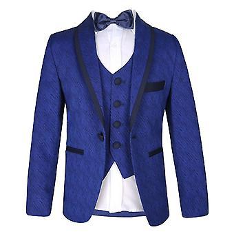 Boys Premium Flamingo Special Occasion Suit - Matteo Blue & Navy
