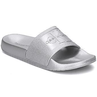 カルバン クライン ジーンズ RE9854シルバー ユニバーサル 夏の女性靴