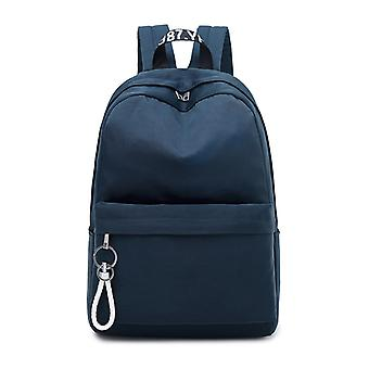 Single backpack with laptop compartment-dark blue