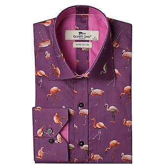 Claudio Lugli Flamingo imprimer chemise Mens