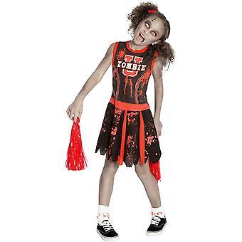 Costume enfant de zombie pom-pom girl