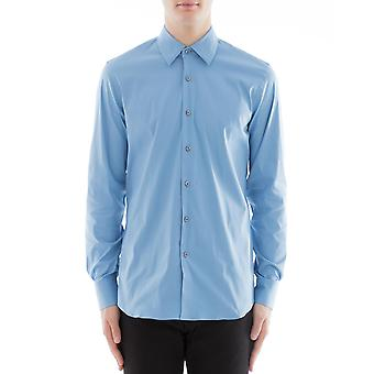 Prada Ucm608f62f0076 Männer's hellblau Baumwollshirt