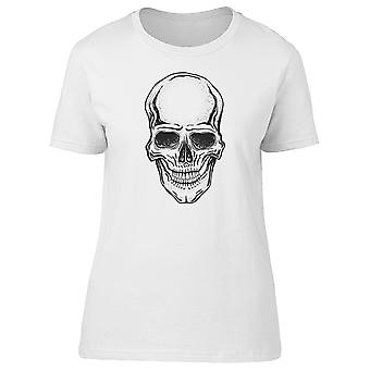 Black Drawing Of A Human Skull Tee Men's -Image by Shutterstock
