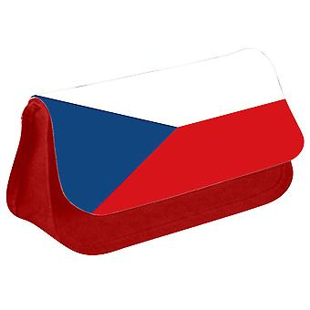 Czech Republic Flag Printed Design Pencil Case for Stationary/Cosmetic - 0046 (Red) by i-Tronixs