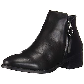 Steve Madden Womens Dacey Leather Round Toe Ankle Fashion Boots