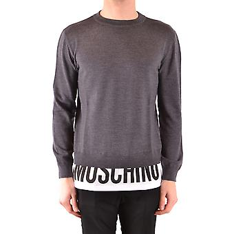 Moschino Ezbc015084 Men's Grey Cotton Sweater