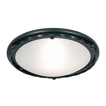 Elstead-1 licht flush plafond licht zwart-PB/F/B zwart
