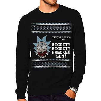 Unisex Rick and Morty Tis the Season to Get Riggity Christmas Jumper