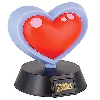 The Legend Of Zelda Heart Container 3D Light Multi-Colour