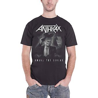 Anthrax T Shirt Amongst The Living Album Official Mens New Black