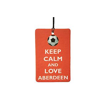 Keep Calm And Love Aberdeen Car Air Freshener