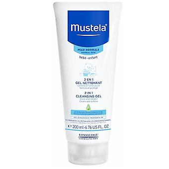 Mustela 2 in 1 Hair and Body Wash 200ml
