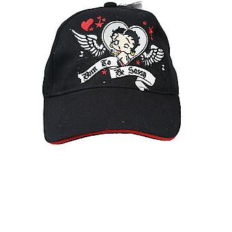Baseball Cap - Betty Boop - Black Hearts (Youth/Kids) New Hat boop749