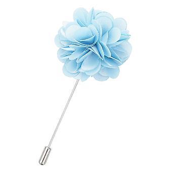 Baby Blue Plain Satin Anstecknadel