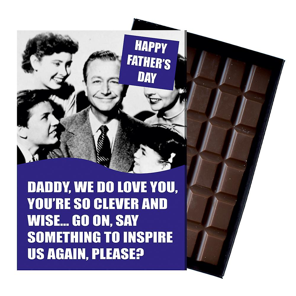 Funny Fathers Day Gift For Dad boxed Chocolate Greeting Card Present for Daddy CDL206