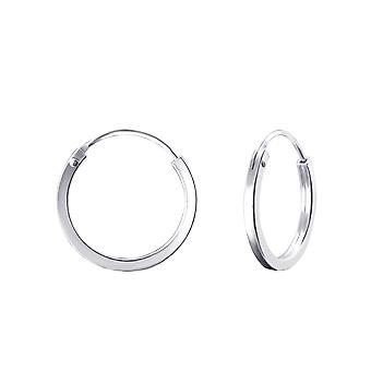 Round - 925 Sterling Silver Ear Hoops - W22685x