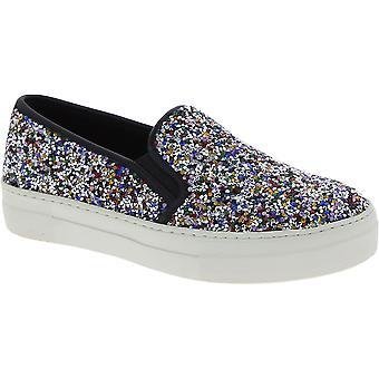 Steve Madden kvinder ' s Fashion slip-on laceless sko i flerfarvet glitter