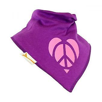 Purple & pink peace & love bandana bib