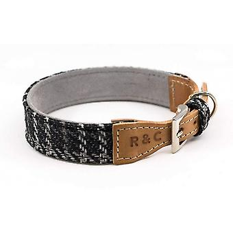 Ralph & Co Tweed And Leather Ascot Dog Collar