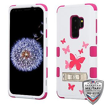 MYBAT Butterfly Dancing/Hot Pink TUFF Hybrid Protector Cover  for Galaxy S9 Plus