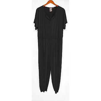 Lisa Rinna Collection Women's Jumpsuits Dolman Sleeve Knit Black A292275