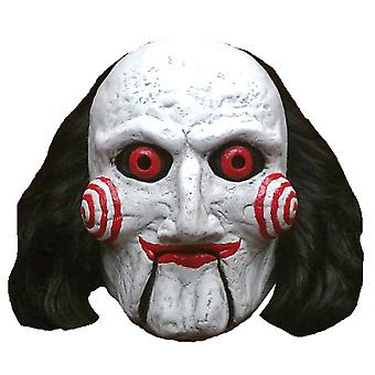 Billy Puppet SAW Deluxe Horror Adult Mens Costume Overhead Latex Mask with Wig