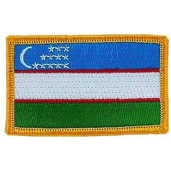 التصحيح Ecusson برود العلم الأوزبكي ة الشارة الحرارية بلاسون