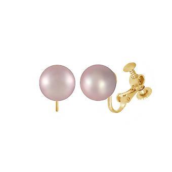 Eeuwige collectie Mia Lilac shell Pearl Gold Tone Stud schroef terug clip op oorbellen