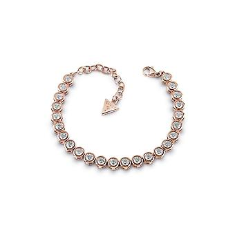 Guess Jewellery Guess Rose Gold Plated Tennis Bracelet Swarovski Crystals UBB28128