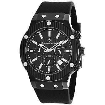 Christian Van Sant Men-apos;s Monarchy Black Dial Watch - CV8120