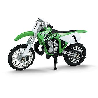 Die-Cast verde Kawasaki KK 250 Dirt Bike, 01:32 scala