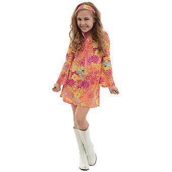 Flower Power 1970s Hippie Hippy Retro Groovy Book Week Child Girls Costume