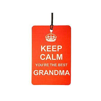 Keep Calm du er den bedste bedstemor bil luftfriskere