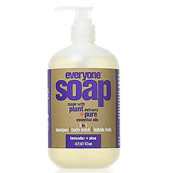 Everyone soap, lavender & aloe, 16 oz