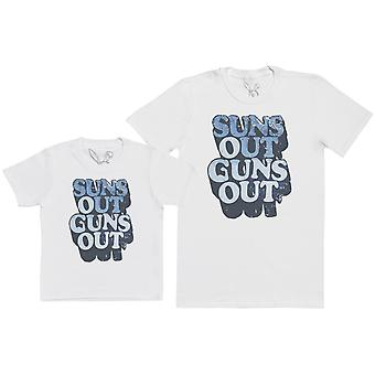Sun's Out Gun's Out - Kid's Gift Set with Kid's T-Shirt & Father's T-Shirt