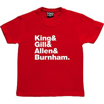 Gang Of Four Line-Up Red Kids' T-Shirt
