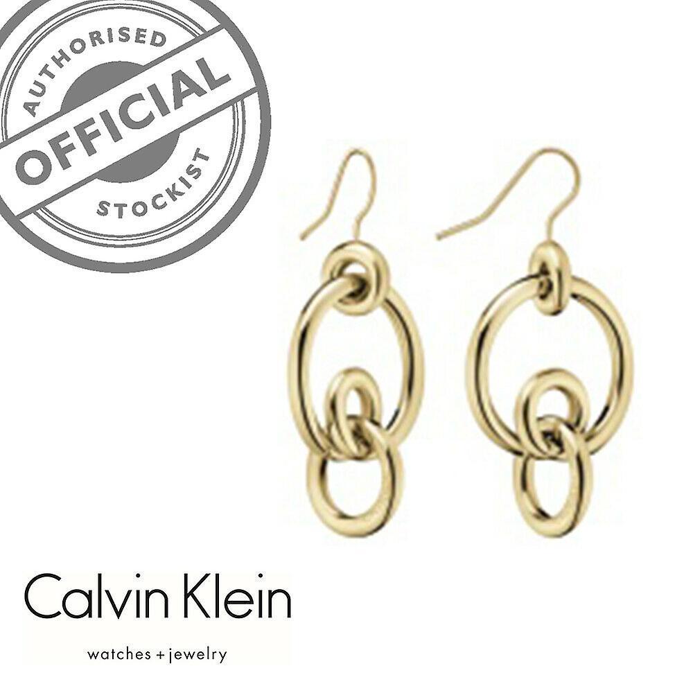 Calvin Klein Clink Gold PVD Stainless Steel Earrings KJ9PJE100200