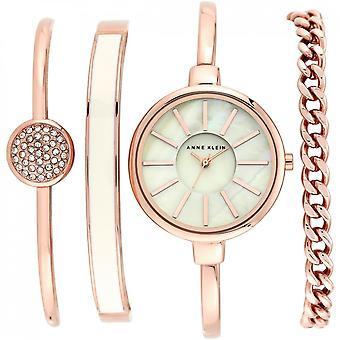 Anne Klein AK-N1470RGST Set - Crystal Watch Swarovski Steel Bracelet Dor Steel Pink Bo tier Aluminium Dor pink Femme - Jewelry Bracelets
