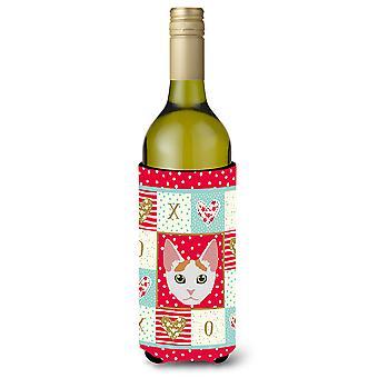 Japanese Bobtail Cat Wine Bottle Beverage Insulator Hugger