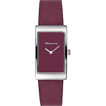 Tamaris - Wristwatch - Aila - DAU 22 - 5 x 38 - 5mm - Silver - Women - TW025 - Wine Red Silver