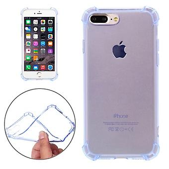 For iPhone 8 PLUS,7 PLUS Case,Shockproof Grippy Transparent Shielding Cover,Blue
