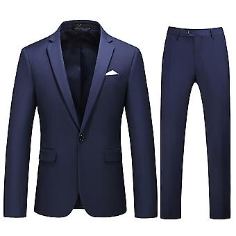 Allthemen Men's Suits 2-Pieces Suits Slim Four Seasons Suit Jacket&Pants 5 Colors