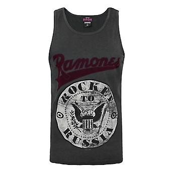 Amplified Ramones Rocket To Russia Charcoal Men's Vest