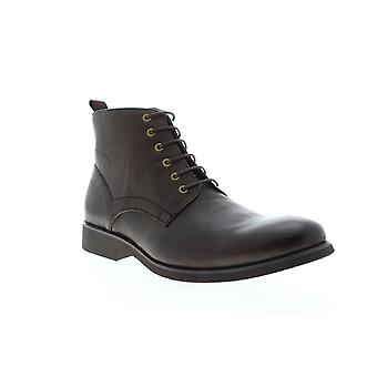 Zanzara Nereto  Mens Brown Leather Lace Up Casual Dress Boots Shoes