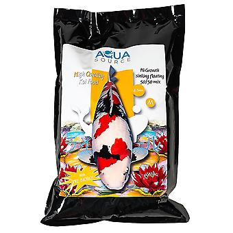 Aqua Source Hi Growth Sinking/Floating 50/50 Mix Koi Food 10kg