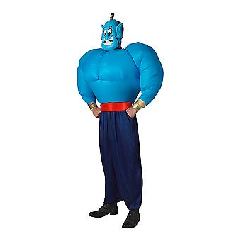Genie Inflatable Deluxe Aladdin Disney Story Book Week Dress Up Mens Costume STD