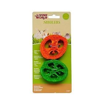Living World Vegetable Sponge Rabbit nibblers